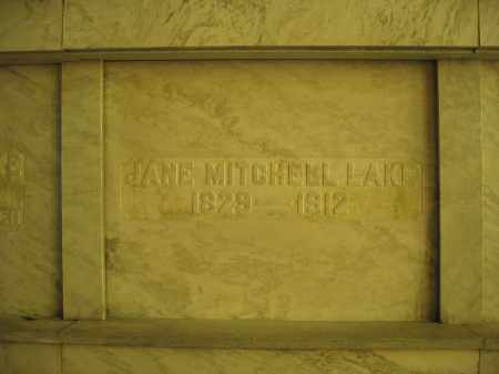 LAKE, JANE MITCHELL - Union County, Ohio | JANE MITCHELL LAKE - Ohio Gravestone Photos
