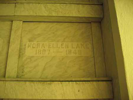 LAKE, NORA ELLEN - Union County, Ohio | NORA ELLEN LAKE - Ohio Gravestone Photos