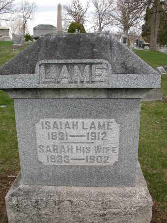 LAME, ISAIAH - Union County, Ohio | ISAIAH LAME - Ohio Gravestone Photos