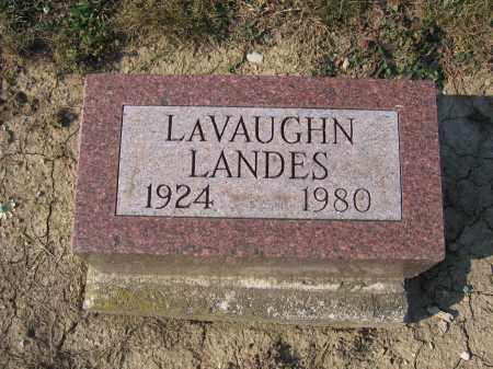 LANDES, LAVAUGHN - Union County, Ohio | LAVAUGHN LANDES - Ohio Gravestone Photos