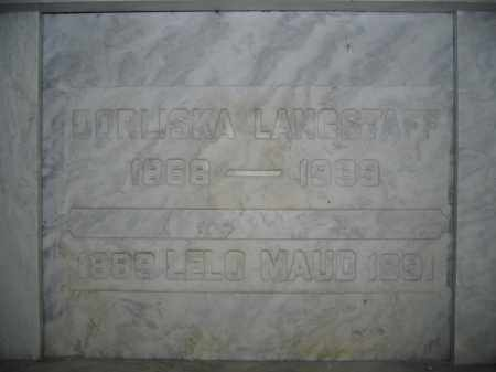 LANGSTAFF, LELO MAUD - Union County, Ohio | LELO MAUD LANGSTAFF - Ohio Gravestone Photos