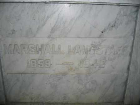 LANGSTAFF, MARSHALL - Union County, Ohio | MARSHALL LANGSTAFF - Ohio Gravestone Photos