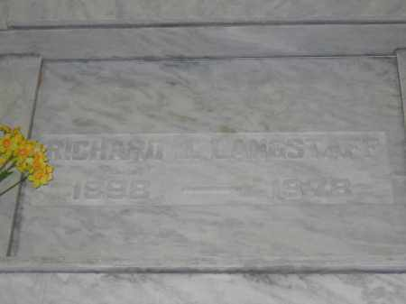 LANGSTAFF, RICHARD J. - Union County, Ohio | RICHARD J. LANGSTAFF - Ohio Gravestone Photos
