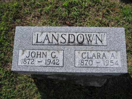 LANSDOWN, JOHN G. - Union County, Ohio | JOHN G. LANSDOWN - Ohio Gravestone Photos