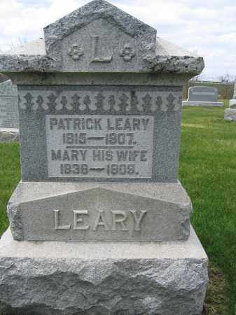 LEARY, MARY - Union County, Ohio | MARY LEARY - Ohio Gravestone Photos