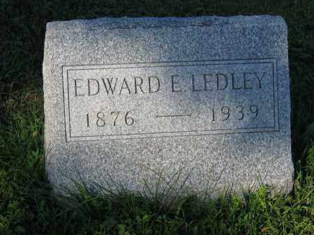 LEDLEY, EDWARD E. - Union County, Ohio | EDWARD E. LEDLEY - Ohio Gravestone Photos