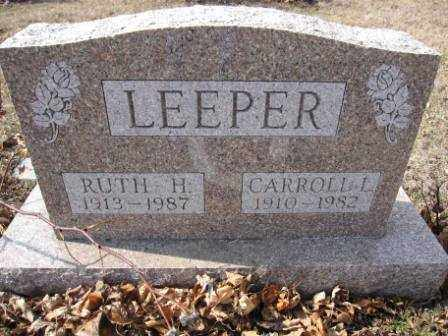 LEEPER, CARROLL L. - Union County, Ohio | CARROLL L. LEEPER - Ohio Gravestone Photos