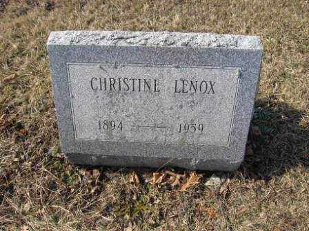 LENOX, CHRISTINE - Union County, Ohio | CHRISTINE LENOX - Ohio Gravestone Photos