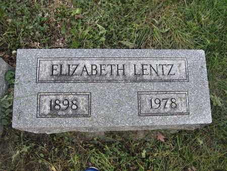LENTZ, ELIZABETH - Union County, Ohio | ELIZABETH LENTZ - Ohio Gravestone Photos