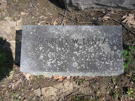 LENTZ, MARTHA W. - Union County, Ohio | MARTHA W. LENTZ - Ohio Gravestone Photos