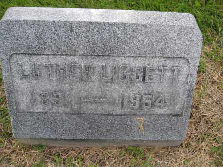 LIGGETT, LUTHER - Union County, Ohio | LUTHER LIGGETT - Ohio Gravestone Photos