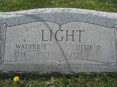 LIGHT, WALTER E. - Union County, Ohio | WALTER E. LIGHT - Ohio Gravestone Photos