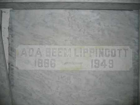 LIPPINCOTT, ADA BEEM - Union County, Ohio | ADA BEEM LIPPINCOTT - Ohio Gravestone Photos
