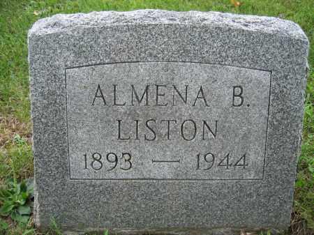 LISTON, ALMENA B. - Union County, Ohio | ALMENA B. LISTON - Ohio Gravestone Photos