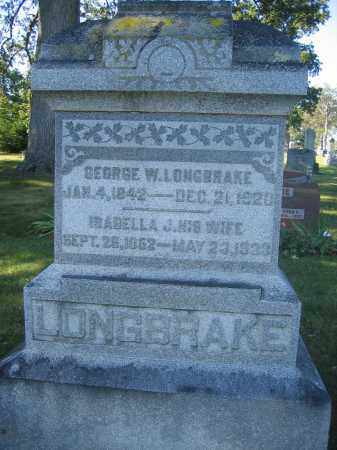 LONGBRAKE, ISABELLA J. - Union County, Ohio | ISABELLA J. LONGBRAKE - Ohio Gravestone Photos
