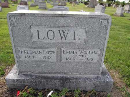LOWE, EMMA WOLLAM - Union County, Ohio | EMMA WOLLAM LOWE - Ohio Gravestone Photos