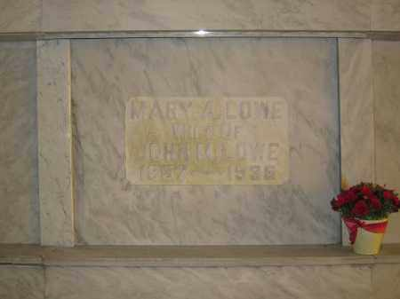 LOWE, MARY A. - Union County, Ohio | MARY A. LOWE - Ohio Gravestone Photos