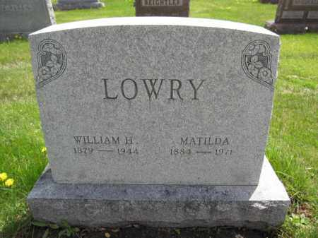 LOWRY, MATILDA - Union County, Ohio | MATILDA LOWRY - Ohio Gravestone Photos