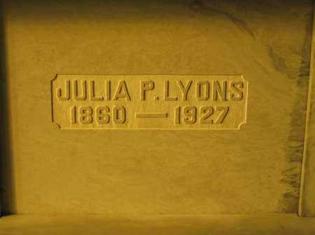 LYONS, JULIA P. - Union County, Ohio | JULIA P. LYONS - Ohio Gravestone Photos