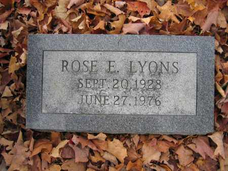 LYONS, ROSE E. - Union County, Ohio | ROSE E. LYONS - Ohio Gravestone Photos