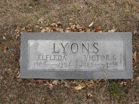 LYONS, ELFLEDA - Union County, Ohio | ELFLEDA LYONS - Ohio Gravestone Photos