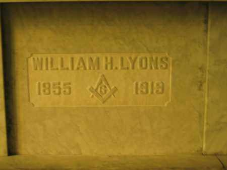 LYONS, WILLIAM H. - Union County, Ohio | WILLIAM H. LYONS - Ohio Gravestone Photos