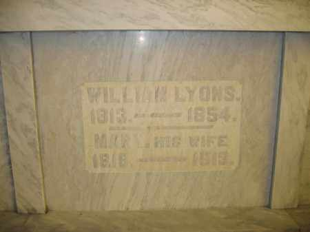 LYONS, WILLIAM - Union County, Ohio | WILLIAM LYONS - Ohio Gravestone Photos