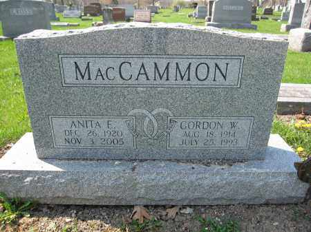 MACCAMMON, GORDON W. - Union County, Ohio | GORDON W. MACCAMMON - Ohio Gravestone Photos