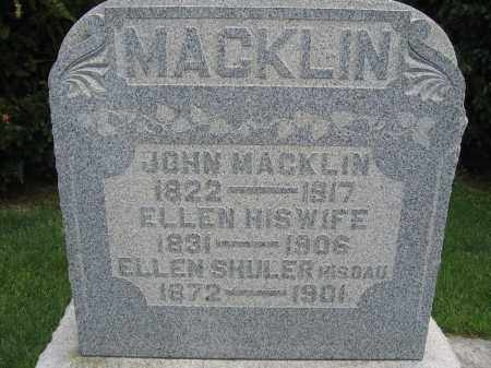 MACKLIN SHULER, ELLEN - Union County, Ohio | ELLEN MACKLIN SHULER - Ohio Gravestone Photos