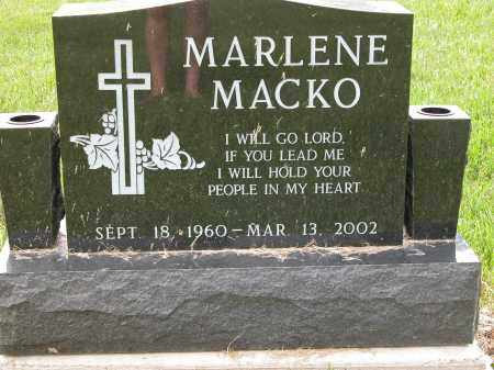 MACKO, MARLENE - Union County, Ohio | MARLENE MACKO - Ohio Gravestone Photos