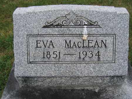 MACLEAN, EVA - Union County, Ohio | EVA MACLEAN - Ohio Gravestone Photos
