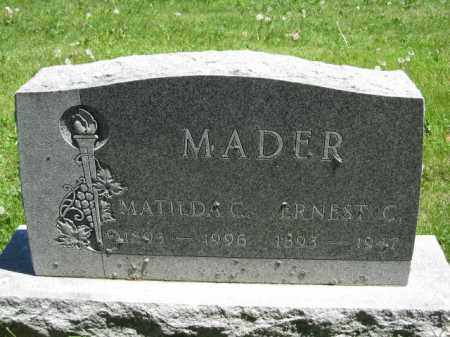 MADER, MATILDA C. - Union County, Ohio | MATILDA C. MADER - Ohio Gravestone Photos