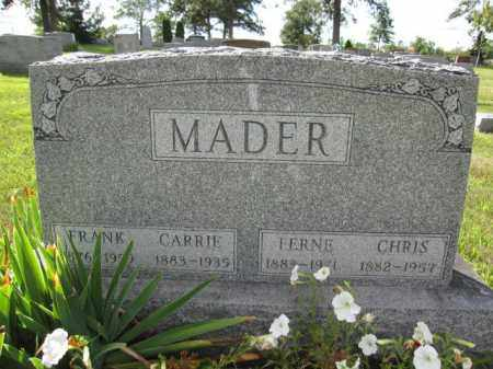 MADER, CARRIE - Union County, Ohio | CARRIE MADER - Ohio Gravestone Photos