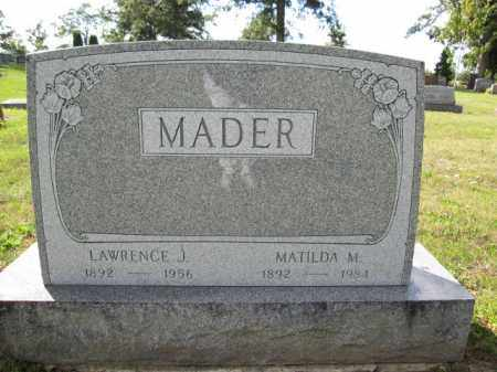 MADER, MATILDA M. - Union County, Ohio | MATILDA M. MADER - Ohio Gravestone Photos