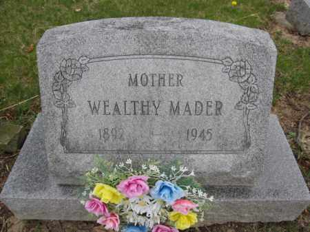 MADER, WEALTHY - Union County, Ohio | WEALTHY MADER - Ohio Gravestone Photos
