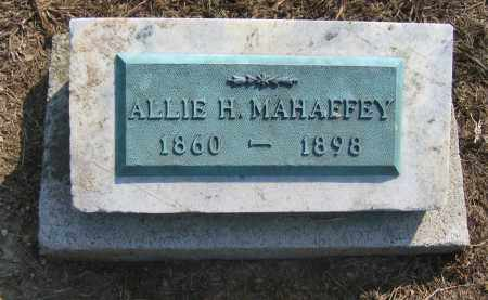 MAHAFFEY, ALLIE H. - Union County, Ohio | ALLIE H. MAHAFFEY - Ohio Gravestone Photos
