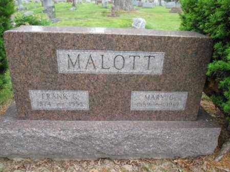 MALOTT, FRANK G. - Union County, Ohio | FRANK G. MALOTT - Ohio Gravestone Photos