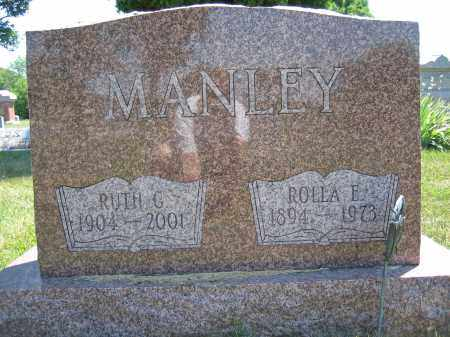 MANLEY, ROLLA E. - Union County, Ohio | ROLLA E. MANLEY - Ohio Gravestone Photos