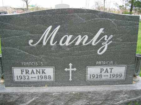 MANTZ, FRANK - Union County, Ohio | FRANK MANTZ - Ohio Gravestone Photos