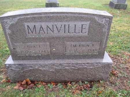MANVILLE, EMERSON B. - Union County, Ohio | EMERSON B. MANVILLE - Ohio Gravestone Photos