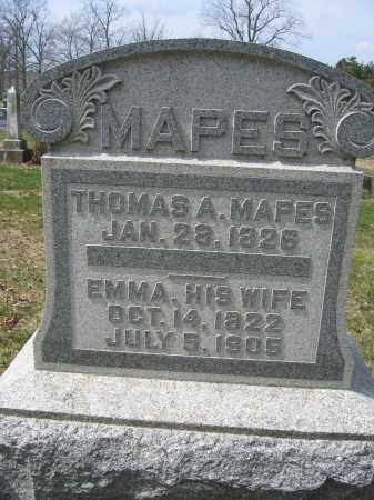 MAPES, EMMA - Union County, Ohio | EMMA MAPES - Ohio Gravestone Photos
