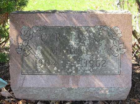 MARINE, GERALD C. - Union County, Ohio   GERALD C. MARINE - Ohio Gravestone Photos