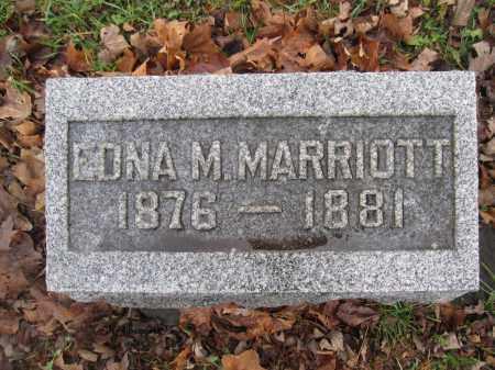MARRIOTT, EDNA M. - Union County, Ohio | EDNA M. MARRIOTT - Ohio Gravestone Photos