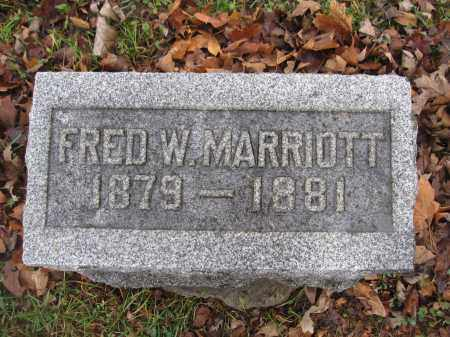 MARRIOTT, FRED W. - Union County, Ohio | FRED W. MARRIOTT - Ohio Gravestone Photos