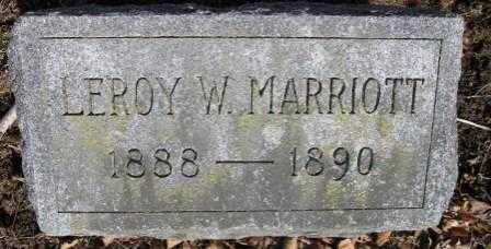 MARRIOTT, LEOY W. - Union County, Ohio | LEOY W. MARRIOTT - Ohio Gravestone Photos
