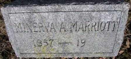 MARRIOTT, MINERVA A. - Union County, Ohio | MINERVA A. MARRIOTT - Ohio Gravestone Photos