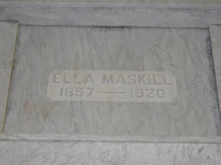 MASKILL, ELLA - Union County, Ohio | ELLA MASKILL - Ohio Gravestone Photos