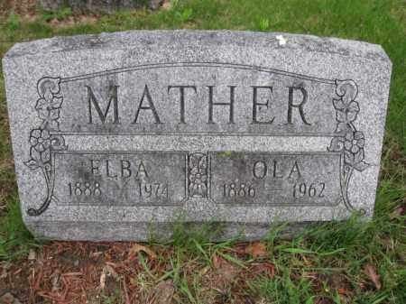 MATHER, OLA - Union County, Ohio | OLA MATHER - Ohio Gravestone Photos