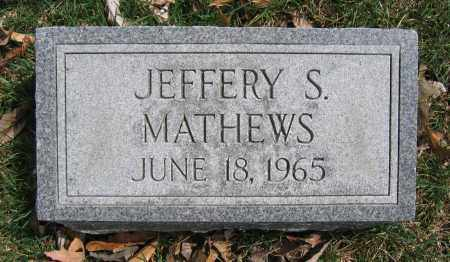 MATHEWS, JEFFERY S. - Union County, Ohio | JEFFERY S. MATHEWS - Ohio Gravestone Photos