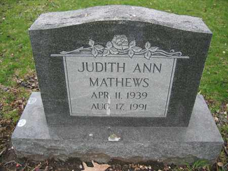 MATHEWS, JUDITH ANN - Union County, Ohio | JUDITH ANN MATHEWS - Ohio Gravestone Photos